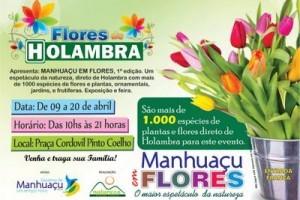 Manhuaçu: Cidade recebe exposição de flores até o dia 20 de abril