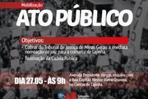 Lajinha: OAB promoverá ato público nesta quarta-feira