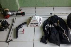 Divino: PM apreende armas na cidade e em Orizânia