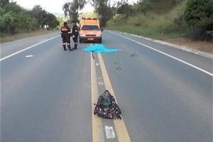 Santa Bárbara do Leste: Idosa morre atropelada na BR 116