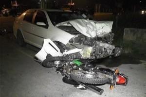 Caratinga: Mulher morre após batida de carro em motocicleta
