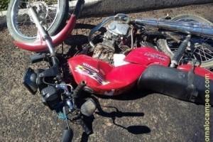 Divino: Motociclista fica gravemente ferido no trevo