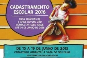 Manhuaçu: Cadastramento escolar começa nesta segunda-feira