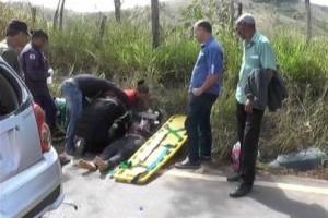 Piedade de Caratinga: Mãe e filha se ferem em acidente na BR 474