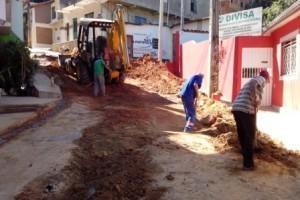 Manhuaçu: Continua obra da Rua Antônio Miranda Sette