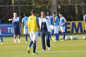Cruzeiro: Luxemburgo treina time com  nova formação