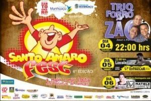 Manhuaçu: Conheça a programação do 6º Santo Amaro Fest