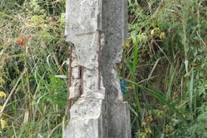 Manhuaçu: Poste danificado pode cair em São Pedro do Avaí