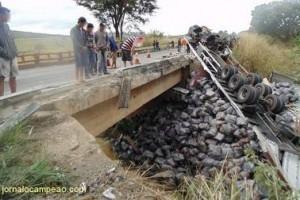 Orizânia: Caminhoneiro morre preso às ferragens na BR 116