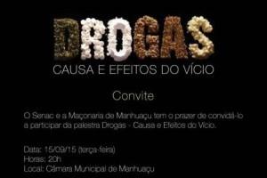 """Manhuaçu: Palestra """"Drogas – Causas e Efeitos do Vício"""" será nesta terça-feira"""
