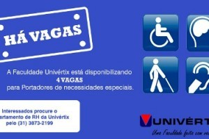 Matipó: Univértix oferece 4 vagas para portadores de necessidades especiais