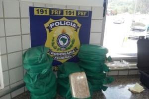 Sabará: PRF apreende drogas que viriam para Manhuaçu. Avaliação 1 milhão de reais