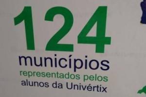 Univértix: 124 municípios brasileiros representados na Instituição