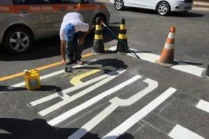 Manhuaçu: Ruas da cidade recebem sinalização
