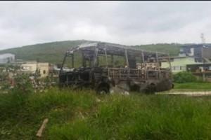 Manhuaçu: Micro-ônibus da Igreja Nova Vida é incendiado