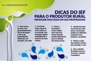 Meio-Ambiente: Instituto Estadual de Florestas ensina produtor rural a reter água
