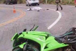 Rapaz de Manhumirim morre em acidente com moto