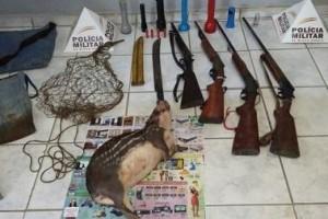 Orizânia: PM prende caçadores e apreende armas