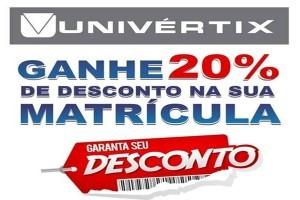 Univértix oferece descontos de 20% nas matrículas