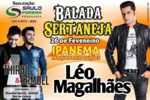 Ipanema: Léo Magalhães fará show na cidade