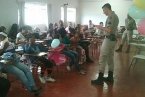 Orizânia: PM ministra palestra educativa