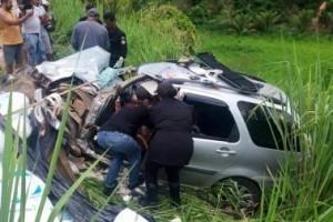 Inhapim: Acidente com cinco feridos na BR 116