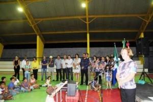 Martins Soares: Inaugurada quadra Adão da Silva Franco em Pinheiros de Minas