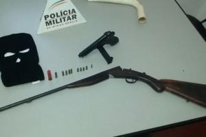 São Francisco do Glória: Armas apreendidas pela PM