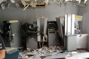 Santa Margarida: Bandidos explodem caixas eletrônicos do Banco do Brasil