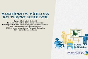Manhuaçu: Plano Diretor terá audiência pública na semana que vem