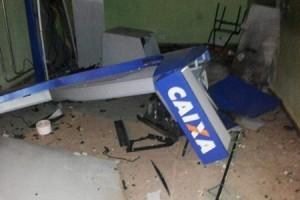 Caputira: Caixa eletrônico é explodido