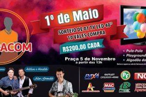Manhuaçu: Festa do Trabalhador vai movimentar o domingo,  1º de maio