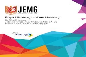 Manhuaçu: Vai começar a etapa regional dos JEMG