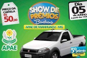 Cinco carros serão sorteados pela APAE Manhuaçu