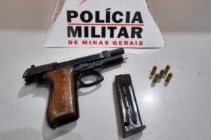 Arma de fogo é apreendida durante festa em Divino