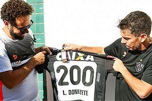 Donizete completa 200 jogos pelo Atlético