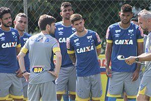 Cruzeiro treina saída de bola