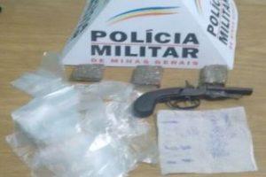 Manhuaçu: Arma e drogas apreendidas em Dom Corrêa