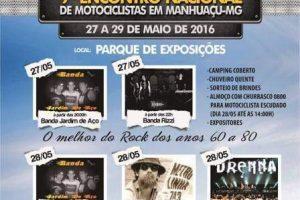 Motocicletas se reúnem para o 9º Encontro Nacional em Manhuaçu