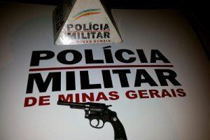 PM apreende duas armas de fogo em Manhuaçu