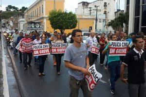 De greve em MG, PC reduz atendimento em Manhuaçu