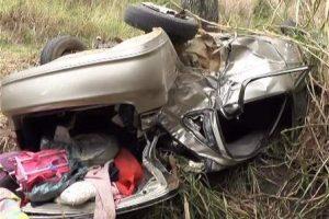 Família de Manhuaçu se acidenta na BR 116, em Dom Corrêa