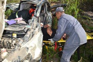 Acidente deixa 4 feridos na BR 116,em Miradouro