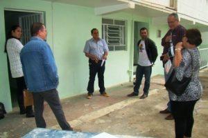 CMS visita obras da Policlínica Municipal Dr. Jorge Hannas. Correções devem ser feitas