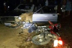 Motociclista morre em Divino