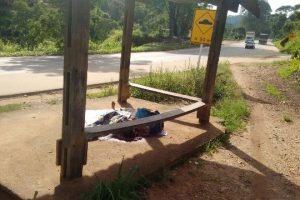 Manhuaçu: Andarilho é morto em ponto de ônibus de Dom Corrêa