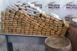 PM apreende maconha em Santa Rita de Minas. 100 quilos