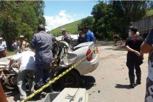Inhapim: Dois mortos e 4 feridos em acidente na BR 116
