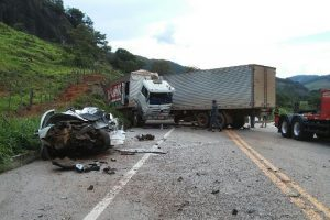 Acidente com vítima fatal na BR 262 na região de Matipó