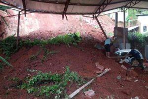 Deslizamentos registrados em Manhuaçu